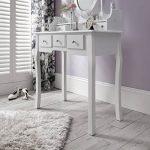 CAPRI AGTC0010 Chaise pour coiffeuse Blanc &Meuble Miroir de chambre à coucher de la marque Laura-James image 3 produit