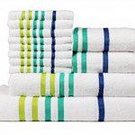 Casa Copenhagen Exotic 475GSM Grande valeur Lot de 12 Ensemble de toilette en coton peigné, Blanc de la marque CASA-COPENHAGEN image 1 produit