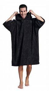 Changement Peignoir de Bain, Serviette de Poncho de Surf avec Capuche (Gris Bleu Rose Vert Noir Rouge) de la marque Winthome image 0 produit