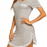Chemise de Nuit Femme Pyjama Manche Courte Robe de Nuit Été Casual S-XXL de la marque MAXMODA image 3 produit
