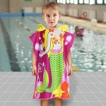 ChicSoleil Serviette de Bain de Plage à Capuchon pour Enfant - Impression de Dinosaure Poncho Cape pour Les Enfants de 1 à 7 Ans de la marque ChicSoleil image 1 produit