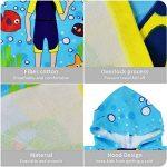 ChicSoleil Serviette de Bain de Plage à Capuchon pour Enfant - Impression de Dinosaure Poncho Cape pour Les Enfants de 1 à 7 Ans (Plongeur) de la marque ChicSoleil image 3 produit