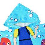 ChicSoleil Serviette de Bain de Plage à Capuchon pour Enfant - Impression de Dinosaure Poncho Cape pour Les Enfants de 1 à 7 Ans (Plongeur) de la marque ChicSoleil image 2 produit
