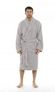 CityComfort Hommes Serviette Robe 100% Coton Serviette en Éponge Peignoir Robe De Robe De Bain Parfait pour Gymnase Douche Spa Hôtel Robe Robe De Vacances de la marque CityComfort image 0 produit