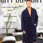 CityComfort Hommes Serviette Robe 100% Coton Serviette en Éponge Peignoir Robe De Robe De Bain Parfait pour Gymnase Douche Spa Hôtel Robe Robe De Vacances de la marque CityComfort image 1 produit