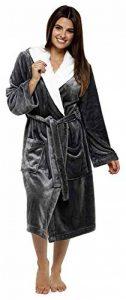 CityComfort Luxury Dressing Gown Mesdames Robe Super Douce avec Fourrure Doublée À Capuche en Peluche Peignoir pour Les Femmes-Cadeau Parfait de la marque CityComfort image 0 produit