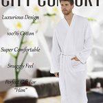 CityComfort Peignoir De Bain Homme, Linge De Bain, Robe De Chambre Homme, Peignoir De Nuit, Peignoir Homme Kimono Tissage Gaufré 100% Coton de la marque CityComfort image 1 produit