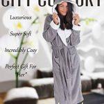 CityComfort Peignoir de à Capuche pour Femmes avec Capuche et Poignets Sherpa Robe Super Douce avec Peignoir Moelleux à Capuche en Fourrure pour Femme de la marque CityComfort image 1 produit