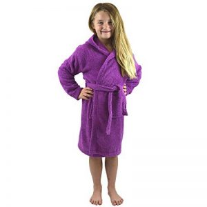CityComfort Peignoir pour Enfants Petit Garçon Fille avec Capuche 100% Coton Robe de Chambre Serviette Doux Éponge de Coton 7-13 Ans de la marque CityComfort image 0 produit