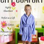 CityComfort Peignoir pour Enfants Petit Garçon Fille avec Capuche 100% Coton Robe de Chambre Serviette Doux Éponge de Coton 7-13 Ans de la marque CityComfort image 1 produit
