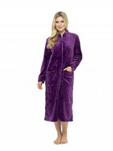 CityComfort Robe de Chambre de en Relief Rose Super Doux Zip à Travers Peignoir thermoactive Soft Touch de la marque CityComfort image 0 produit