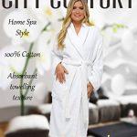 CityComfort Robe de Chambre pour Femmes en Coton éponge Peignoir de très Absorbant Capuche et châle Serviette de Bain Wrap de la marque CityComfort image 1 produit