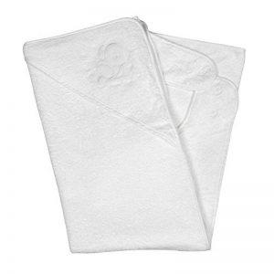 Clevamama Serviette de Bain Bébé - Tablier Cape pour Bebe Et Enfant, Coton - Blanc de la marque Clevamama image 0 produit