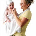 Clevamama Serviette de Bain Bébé - Tablier Cape pour Bebe Et Enfant, Coton - Blanc de la marque Clevamama image 1 produit