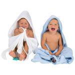 Clevamama Serviette de Bain Bébé - Tablier Cape pour Bebe Et Enfant, Coton - Bleu de la marque Clevamama image 4 produit