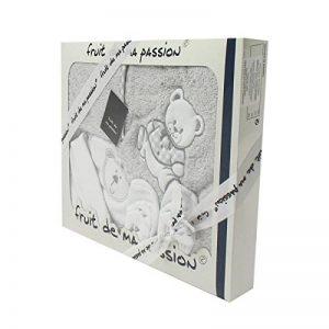 Coffret Sortie de bain gris - Motif Nounours de la marque Fruit-de-ma-passion image 0 produit