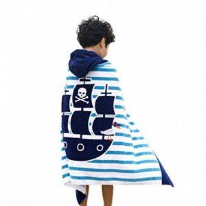 Comfysail 100% Coton Serviette Enfants Poncho à Capuche pour Les Garçons Et Les Filles De 2-7 Ans Idéal De La Plage et De Bain (Bateau) de la marque Comfysail image 0 produit