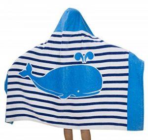 Comfysail 100% Coton Serviette Enfants Poncho à Capuche pour Les Garçons Et Les Filles De 2-7 Ans Idéal De La Plage et De Bain (Bleu) de la marque Comfysail image 0 produit