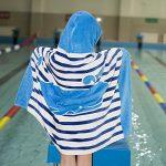 Comfysail 100% Coton Serviette Enfants Poncho à Capuche pour Les Garçons Et Les Filles De 2-7 Ans Idéal De La Plage et De Bain (Bleu) de la marque Comfysail image 1 produit