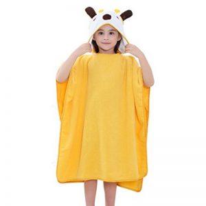 COOKY.D Capuche Bébé Poncho Serviette de bain 100% Doux Coton Peignoir Animal pour Garçon Fille 0-6 Ans, 70x70cm, Girafe de la marque COOKY.D image 0 produit