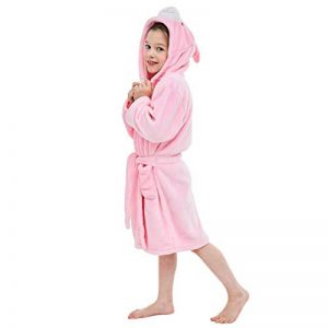 COOKY.D Peignoir Enfant à Capuche Pyjama de Dessin Animé de Coton Doux pour 3-5 Ans, Lapin de la marque COOKY.D image 0 produit