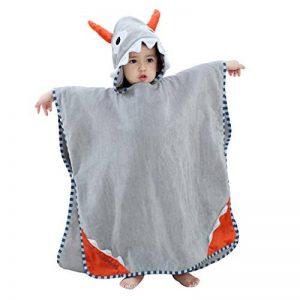 COOKY.D Unisexe Bébé Poncho Serviette de Bain Robe à Capuche pour 0-6 Ans de la marque COOKY.D image 0 produit