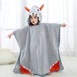 COOKY.D Unisexe Bébé Poncho Serviette de Bain Robe à Capuche pour 0-6 Ans de la marque COOKY.D image 1 produit