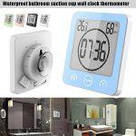 Coomir Réveil thermomètre douche ventouse compte à rebours minuterie portable étanche pour salle de bains (white-prime) de la marque Coomir image 3 produit