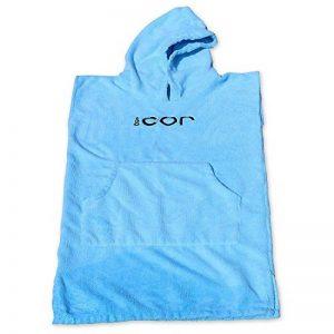 Cor pour enfant Poncho serviette peignoir bleu clair et foncé pour 3-8 ans (Bleu foncé) de la marque COR-Surf image 0 produit