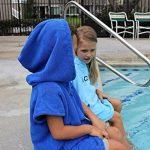 COR Robe Serviette Poncho Enfant Bleu Clair et Bleu pour les Âges 3-8 (Bleu Clair) de la marque COR-Surf image 1 produit