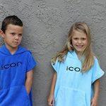 COR Robe Serviette Poncho Enfant Bleu Clair et Bleu pour les Âges 3-8 (Bleu Clair) de la marque COR-Surf image 2 produit