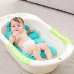 Coussin de bain pour bébé, nouveau-né bébé confortable Coussin de bain sièges Dessin animé doux antidérapant pour baignoire Douche support Coussin de siège de sécurité d'été Pad Lavabo pour 0-6 mois de la marque lulalula image 1 produit