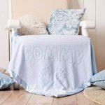Couverture bébé personnalisée au nom de bébé pour nouveau-nés Couverture respirante pour garçons et filles, Taille 88x88CM (Eléphant/Rose) de la marque AIGAT image 3 produit