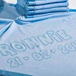 Couverture De Bebe Personnalisee Pour Lit De Bebe, Cadeau Pour Bebe Ou Parents, Taille 88x88cm (Bleu) de la marque AIGAT image 2 produit