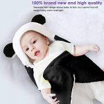 Couverture nouveau-né bébé hiver Wrap, unisexe sac de couchage portable recevant la couverture, coton polaire poussette berceau sommeil sac (0-3M, Black) de la marque Haokaini image 2 produit