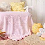 Couverture Personnalisee Pour Bebe Avec Motif Licorne Et Le Nom De Bebe, Taille 88x88cm, Bordure En Satin (Licorne/Rose) de la marque AIGAT image 4 produit