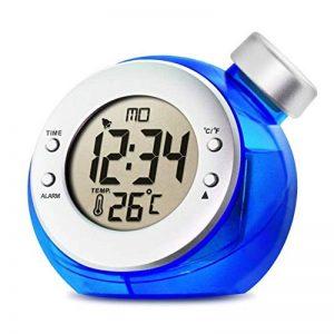 Créatif Alimenté à l'eau Réveil, Réveil avec Thermomètre Aucune batterie requise pour Chambre de la marque DDLONY image 0 produit