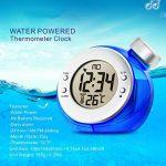 Créatif Alimenté à l'eau Réveil, Réveil avec Thermomètre Aucune batterie requise pour Chambre de la marque DDLONY image 2 produit