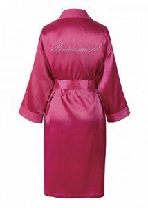 CrystalsRus Varsany Rose de Demoiselle d'honneur en satin rhinestone peignoir jour du mariage personnalisé lune de miel robe de dressage de la marque CrystalsRus image 0 produit