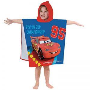 CTI - Disney - Cape de Bain Cars Circuit 100% Coton, Rouge, 120x60 cm de la marque CTI image 0 produit