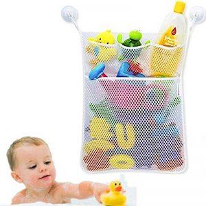 Cudon - Filet de rangement à jouetspour le bain - Avec trois crochets ventouses à forte adhérence de la marque Cudon image 0 produit