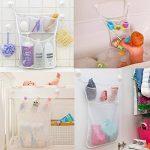Cudon - Filet de rangement à jouetspour le bain - Avec trois crochets ventouses à forte adhérence de la marque Cudon image 3 produit