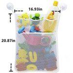 Cudon - Filet de rangement à jouetspour le bain - Avec trois crochets ventouses à forte adhérence de la marque Cudon image 4 produit