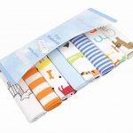 CuteOn Paquet de 8 Super Doux Bébé Débarbouillettes Feeding Essuyer Tissu pour Nouveau née Garçons & Filles Bleu Singe de la marque CuteOn image 1 produit