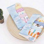 CuteOn Paquet de 8 Super Doux Bébé Débarbouillettes Feeding Essuyer Tissu pour Nouveau née Garçons & Filles Bleu Singe de la marque CuteOn image 4 produit