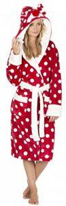 Dames Femmes De Noël Robe de Chambre Capuche - Luxe Polaire De Vêtement À Pois Rouge Renne Penguin Gris - Taille EUR 36 à 50 de la marque Forever-Dreaming image 0 produit