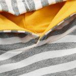 DAY8 ensemble bebe garcon hiver vetement bebe fille printemps manteau pyjama garcon naissance pas cher manche longue blouse chemise body combinaison de a capuche + pantalons de la marque DAY8 image 3 produit