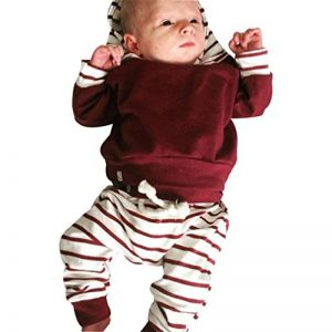 DAY8 vetement bebe garcon naissance hiver ensemble bebe fille printemps chemise garcon pas cher manteau garçon blouse manche longue haut top t shirt sweat à Capuche + pantalon de la marque DAY8 image 0 produit