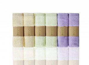 Débarbouillettes de Bambou Bébé 6 paquets Ultra Douces serviettes super absorbantes Doux sur la peau sensible pour les nourrissons les tout petits Naturellement antibactérien de la marque beryris image 0 produit