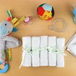 Débarbouillettes pour Bébé en Fibre de Bambou Écologique Bio De Luxe | Pack Cadeau Lot de 6 Petites Serviettes de Bain 25x25cm | Gants de Toilettes Lingettes Lavables de la marque Finkolo image 2 produit